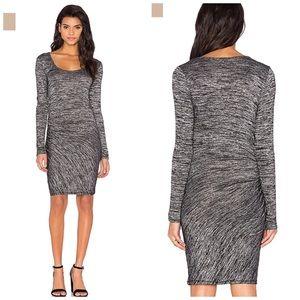 Rag & Bone Twist Mini Dress In Black Heather